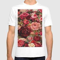 Vintage roses Mens Fitted Tee White MEDIUM