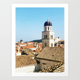 Dubrovnik roofs Art Print