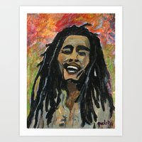 rasta Art Prints featuring Rasta  Man by gretzky