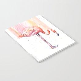 Pink Flamingo Watercolor Bird Animals Whimsical Animal Notebook