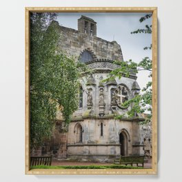 Rosslyn Chapel outside Edinburgh, Scotland Serving Tray