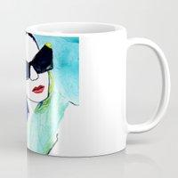 sunglasses Mugs featuring Sunglasses by Karen