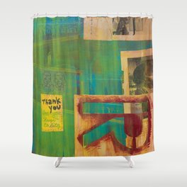 Thank You for Your Hospitality Mixed Media Shower Curtain