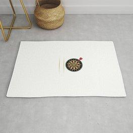 I'd Hit That Dart Board Darts Player Bullseye Rug