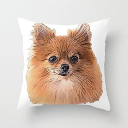 Pomeranian Pom named Pomerania region Poland toy Spitz Throw Pillow
