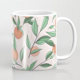 Peach and leaves Coffee Mug