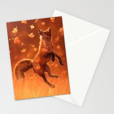 Jump Into Fall Stationery Cards