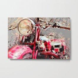 Vintage Moto Guzi Metal Print