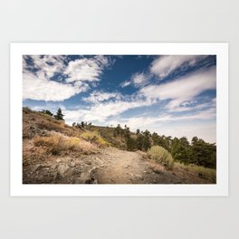 Hiking trail along Pacific Crest Trail in Southern California Art Print