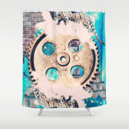 The Wheel of Fortune Shower Curtain