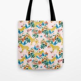 Floral & Zebras Tote Bag