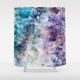 Quartz Stone - Blue and Purple Shower Curtain