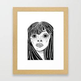 Face study Framed Art Print