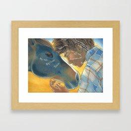 Boy Colt Framed Art Print
