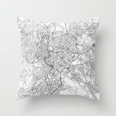 Rome Map Line Throw Pillow