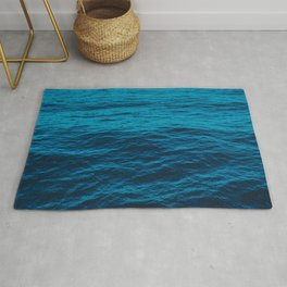water surface, Blue ocean waves - deep blue sea Rug