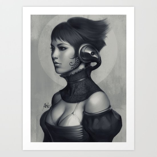 Pepper Grayscale II Art Print