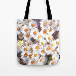 Spring Daisy Wildflower Watercolor Tote Bag