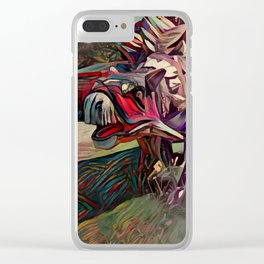 Dinosaurus painting Clear iPhone Case