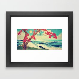 Waking to the Wild and Beautiful Ocean of Dhin Framed Art Print