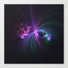 Fireworks Fractal Canvas Print