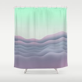 iso mountain sunset Shower Curtain
