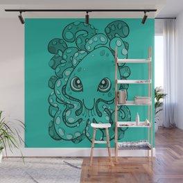 Happy Octopus Squid Kraken Cthulhu Sea Creature - Arcadia Wall Mural