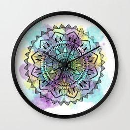 Colourwash Mandala Wall Clock