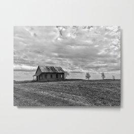 B&W Abandon School House Metal Print
