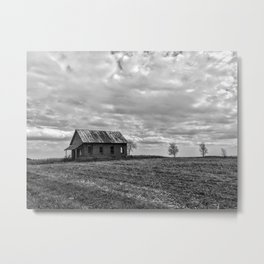 B&W Abandon School House Metal Print