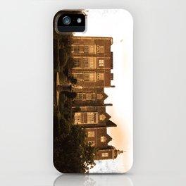 Hatfield house sepia photo iPhone Case