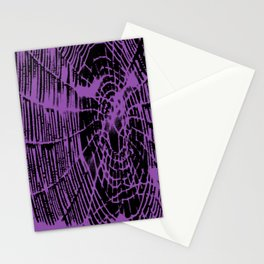 Intricate Halloween Spider Web Purple Palette Stationery Cards