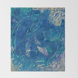 Blue sphinx Throw Blanket