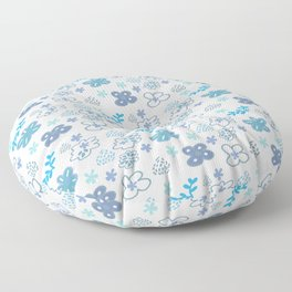 Floral hand painted style Floor Pillow