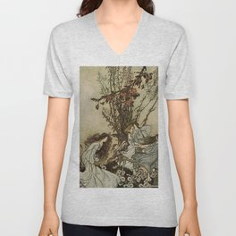 """Dancing With the Fairies"" by Arthur Rackham Unisex V-Neck"