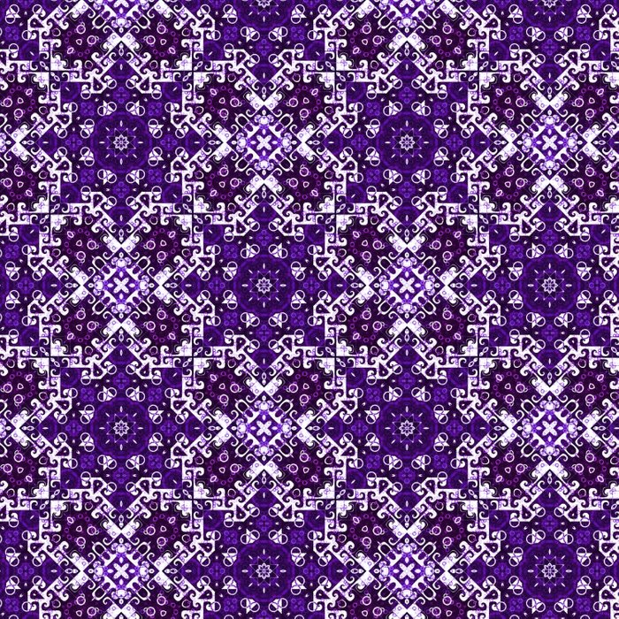 Bohemian Purple Fancy Tile Comforters