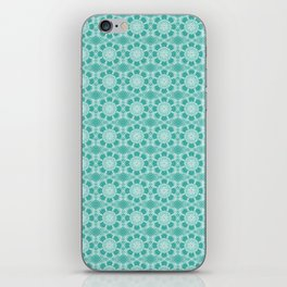 Project 503  |  White Lace on Teal Green iPhone Skin