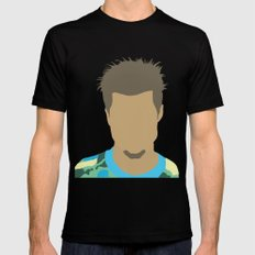 Tyler Durden Fight Club LARGE Black Mens Fitted Tee
