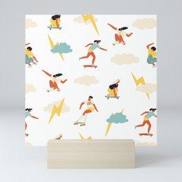 You go, girl pattern! Mini Art Print