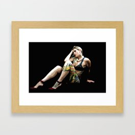Tatted Beauty Framed Art Print
