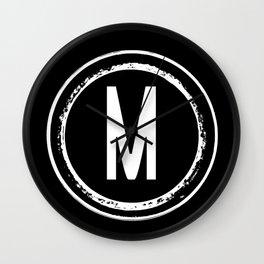 Letter M Monogram Wall Clock