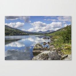Lake Mymbyr and Snowdon Canvas Print
