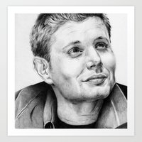 dean winchester Art Prints featuring Dean Winchester by stardustsoul