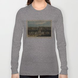 Vintage Pictorial Map of Washington D.C. (1871) Long Sleeve T-shirt