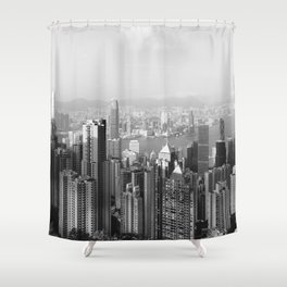 Hongkong skyline 13 Shower Curtain