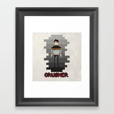 lady crusher Framed Art Print