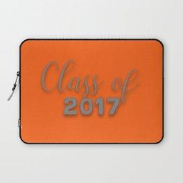 Class of 2017 - Orange and Grey Laptop Sleeve