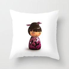 Kokeshi 05 Throw Pillow