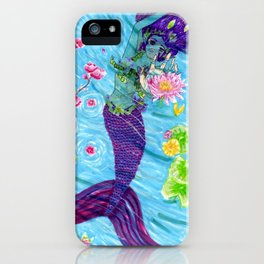 Floral Mermaid iPhone Case