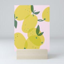 Lemon illustration pattern Mini Art Print